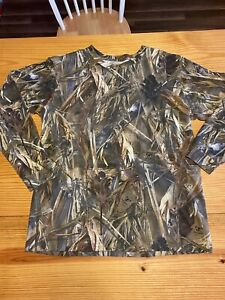 Red Head True Timber Long Sleeve Tee Large Duck Waterfowl