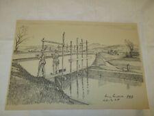 um 1939 Organisation Todt - kleine Kanalbrücke im Elsaß , erbaut von O.T.