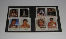 MICHAEL JACKSON - 8 Timbres (Stamps) 1985 St Vincent, Like New