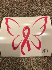 Cancer Ribbon, Butterfly, Angel Vinyl Window/Wall Decal fits Yeti - tumbler