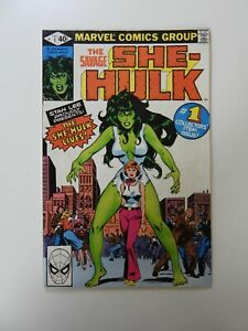 """Savage She-Hulk #1 1st appearance of She-Hulk VG """"staining back cover"""""""