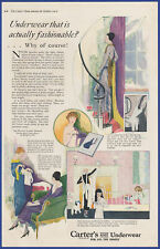Vintage 1919 CARTER'S UNDERWEAR Undergarment Fashion Ephemera Art Decor Print Ad