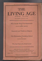 The Living Age Magazine June 13 1925 Darmstadt France John Masefield Scotland