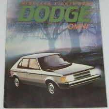 NOS 1984 Dodge Omni Color Car Automobile Brochure MINT Condition