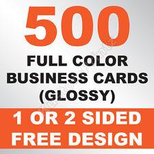 500 CUSTOM FULL COLOR BUSINESS CARDS | 16PT | GLOSSY UV FINISH | FREE DESIGN