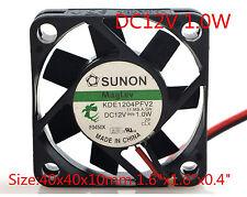 """SUNON Cooling Fan KDE1204PFV2 12v 1.0w 4010 4CM 40x40x10mm 1.6""""x1.6""""x0.4"""""""
