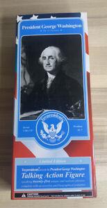 NIB New President George Washington Talking Action Figure Toy President