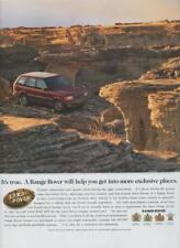 Range Rover Land Rover Automobile Vintage 1997  PRINT AD 4 Wheel Drive Rare