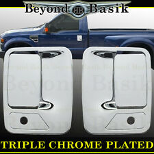 1999-2016 FORD F250 F350 F450 F550 2dr Chrome Door Handle COVERS w/Psgr Keyhole