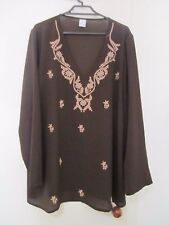 long SLEEVE TOP BY TARGET ,brown SIZE  20