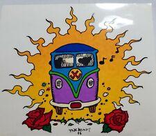 "Vintage Grateful Dead VW Bus Volkswagen Peace Hippie Window Decal '93~4.5"" x 5"""