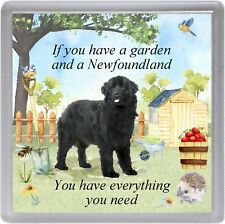 "Newfoundland Dog Coaster ""If you have a garden ....."" Novelty Gift by Starprint"