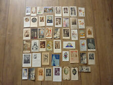 LOT OF 50 HOLY CARDS ALL DIFFERENT 1879 TO 1967