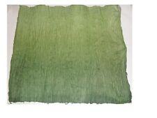 feuille de papier froissée fait main pour création de fleur (dégradé de vert)
