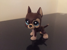 Littlest Pet Shop GREAT DANE Dog #817-2 Brown Chocolate Dot Eyes LPS USA Seller