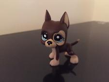 Littlest Pet Shop GREAT DANE Dog #817-2 Brown Chocolate Dot Eyes LPS USA Seller