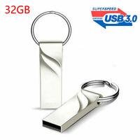 USB 3.0 Flash Drive Metal Memory Stick Pen Keychain U Disk For PC Laptop Mac