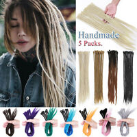 Long Ombre Dreadlocks Hair Extensions Pre-lLooped Crochet Braids Dreads Locs US