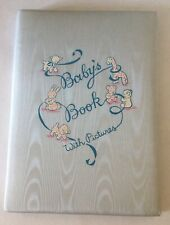 Vintage 1950s Baby'S Book With Pictures Illustrated Photo Album Keepsake Kitsch