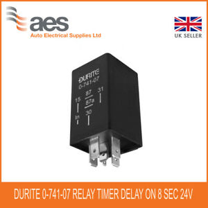 Durite 0-741-07 Relay Timer Delay On 8 Seconds 24 volt