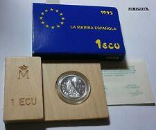ESPAÑA año 1995. 1 ECU PLATA MARINA ESPAÑOLA. Peso 6,70 gr.