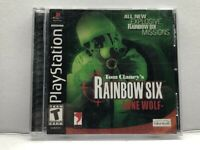 Tom Clancy's Rainbow Six: Lone Wolf (Sony PlayStation 1, 2002) Complete Tested