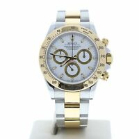 Rolex Model 116523 40mm Daytona Stainless Steel & 118k Gold Watch White Dial
