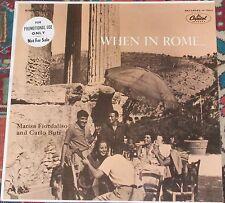 MARISA FIORDALISO e CARLO BUTI - When in Rome CAPITOL U.S. 1957 NM