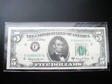 $5 1963 ((A ATLANTA)) FEDERAL RESERVE NOTE CHOICE UNC GEM BU NOTE