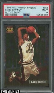 1996 Pacific Power Prisms In The Paint Kobe Bryant Lakers RC Rookie HOF PSA 9