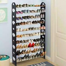 50 Pair 10 Tier Shoe Tower Shelf Adjustable Closet Organizer Home Saving