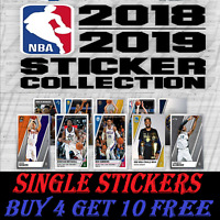 Panini NBA 2018/19 Basketball STICKERS #251-442  BUY 4 GET 10 FREE!  FREEPOST!!!