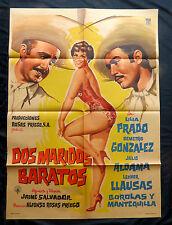 """DOS MARIDOS BARATOS"" SEXY LILIA PRADO MEXICAN MOVIE POSTER 59 DEMETRIO GONZALEZ"
