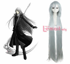 Black Butler Kuroshitsuji Undertaker Costume Hair Cosplay Wig ml141+Free Goft