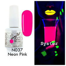 SYSTER 15ml Nail Art Soak Off Gel Polish Manicure UV / LED Lamp - NEON Color Set