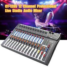 ELM CT-120S 12 Channel Professional Live Studio Audio Mixer USB Mixing Console