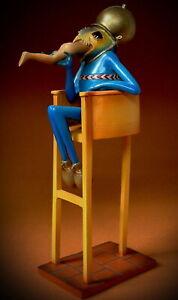 Museumsreplikat JB07 Figur - HIERONYMUS BOSCH Skulptur - Teufel auf Nachttopf