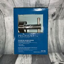 PEGASUS INNBURG Robe Hook Contemporary Collection Brushed Nickel New NIB