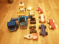 LEGO DUPLO ASSORTED VEHICLES BASES TRAILERS TRUCKS BOB THE BUILDER SCOOP TRAINS