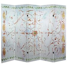 Oriental Furniture 5 ft. Tall Winter's Peace Canvas Room Divider