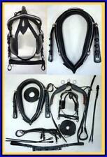 "24"" Collar Hames HORSE Cart Driving Harness BLACK Leather Complete Set"