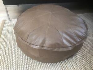 Stunning Turkish Leather Ottoman Pouffe Pouf Footstool