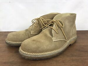 Orvis Suede Leather Chukka Ankle Boots Gumlite Soles Mens 8.5 (#S7)