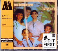 DEBARGE-ALL THIS LOVE-JAPAN CD Ltd/Ed B63