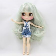 Neo Blythe Factory Nude Doll Mint Green Curly Hair AZONE Special Body