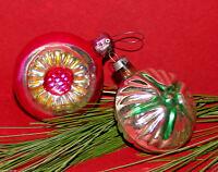 Alter Christbaumschmuck Weihnachtsschmuck 2 Kugeln Stern Blüte Baumbehang CBS