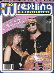 FEBRUARY 1988 PRO WRESTLING ILLUSTRATED MAGAZINE MACHO MAN SAVAGE ELIZABETH WWF