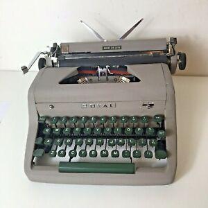 Royal Quiet De Luxe Vintage 1953 Typewriter Made In USA Working