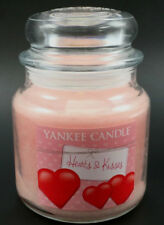 Yankee Candle HEARTS & KISSES Valentines Day Medium Jar Candle 14.5 oz  NEW
