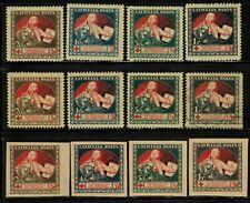 Latvia #B1-12 Complete Set 1920 MLH/Used(B8)